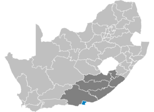 District Nelson Mandelabaai in Zuid-Afrika