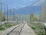 Southwest along tracks from W 650 S in Heber City, Utah, Apr 16.jpg