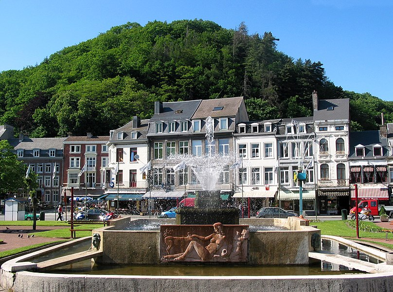 Spa, Belgium,  the fountain of the Casino gardens.