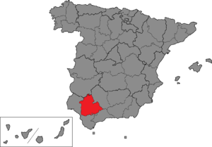 Seville (Congress of Deputies constituency) - Location of Seville within Spain