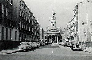 Edward Henry Cooper - St Mary's church at Bryanston Square, London, where Cooper was married in 1863. (Pictured in the 1960s)