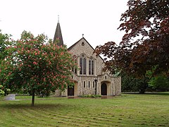 St John's, West Byfleet, with pink horse chestnut tree - geograph.org.uk - 172079.jpg