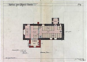 St Mary's Church, Betws Gwerful Goch - Image: St Mary's Church, Betws Groundplan