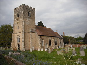 Higham, Babergh - :St Mary's Church, from the south-west