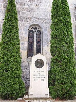 St Michel de Montaigne Stèle