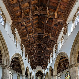 March, Cambridgeshire - The angel roof of St Wendreda's church