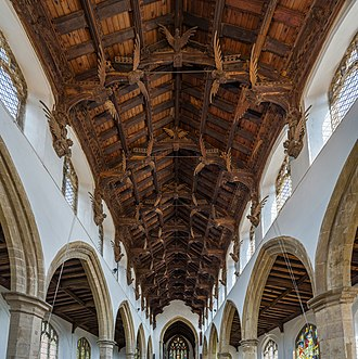March, Cambridgeshire - The angels under the roof of St Wendreda's church