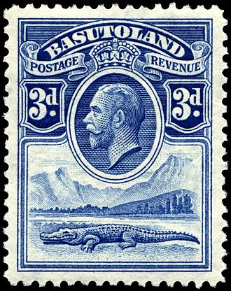 Postage stamps and postal history of Lesotho - A 1933 stamp from the first issue of Basutoland.