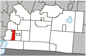 Stanbridge Station, Quebec - Image: Stanbridge Station Quebec location diagram
