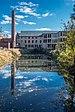 Stanley Woolen Mill Uxbridge MA reflected in Blackstone canal.jpg