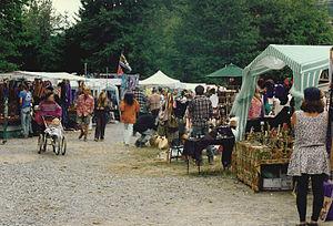 Shakedown Street (vending area) - A vending area at the Starlight Mountain Festival