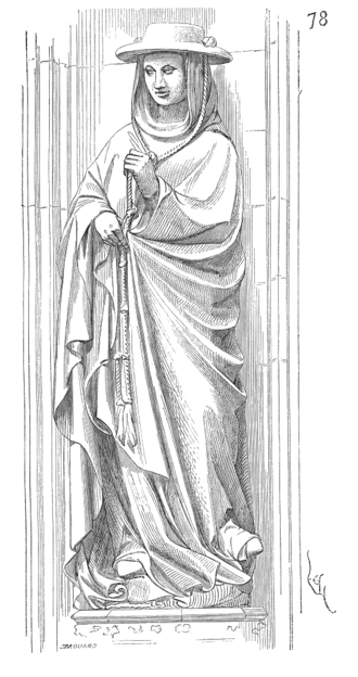 Jean de La Grange - Statue of Jean de La Grange, 19th century drawing.