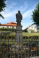Statue of John of Nepomuk in Krucemburk, Havlíčkův Brod District.jpg