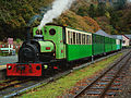 Steam train in Autumn. (15529033029).jpg
