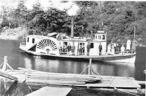 Steamboats of the Oregon Coast - sidewheel steamboat Coos, sometime before 1895