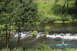 Wiesent (Regnitz) River in Germany