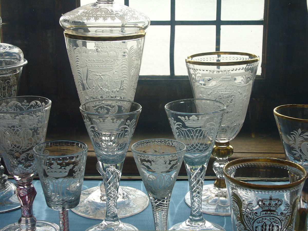 Antique Glass Pictures