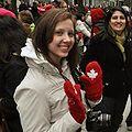 Stephanie Tarasoff with Canadian National Team mittens 2010-02-17.jpg