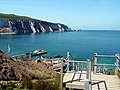 Steps down to the beach at Alum Bay - geograph.org.uk - 281454.jpg