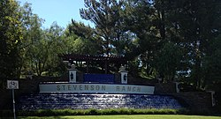The Stevenson Ranch fountain, 2012