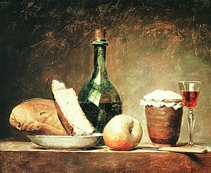 Anne Vallayer-Coster - Still Life with Round Bottle