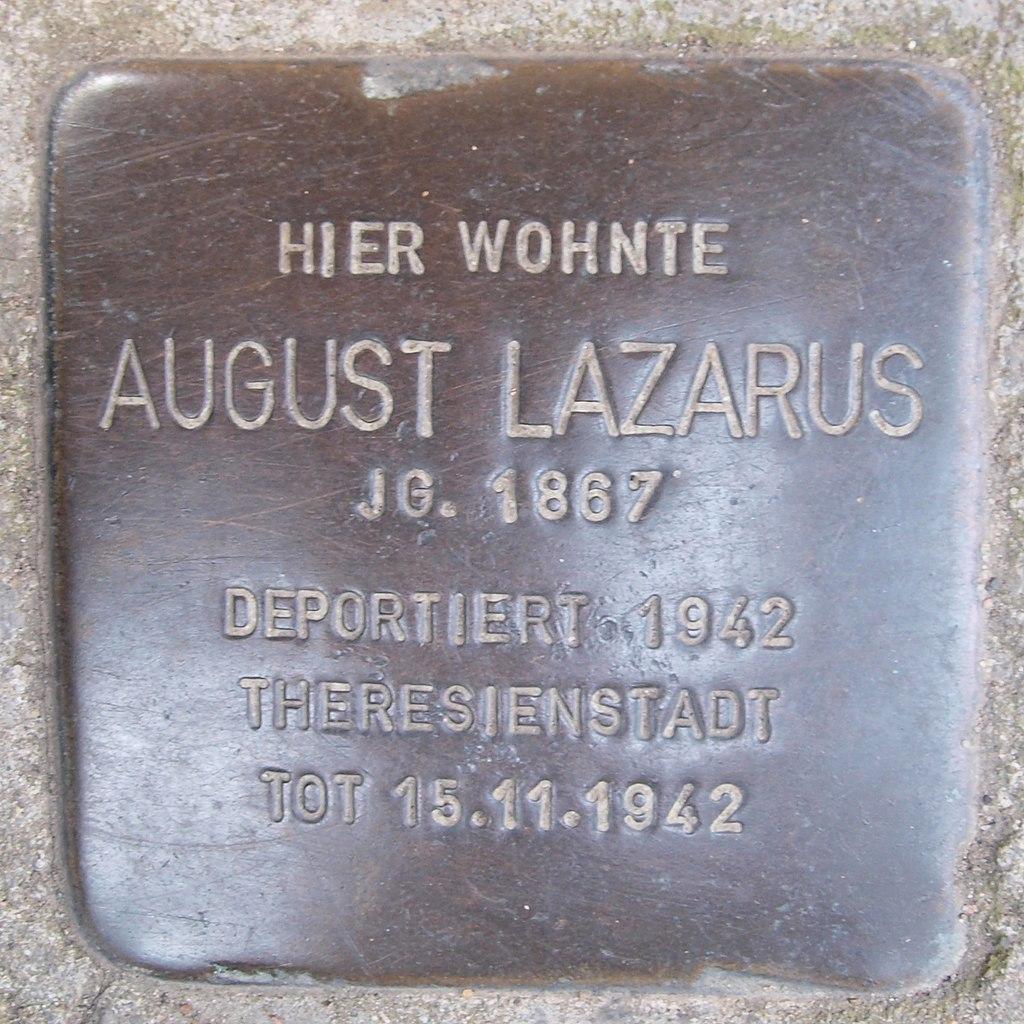Stolperstein Bingen Am Burggraben 1 August Lazarus.jpg