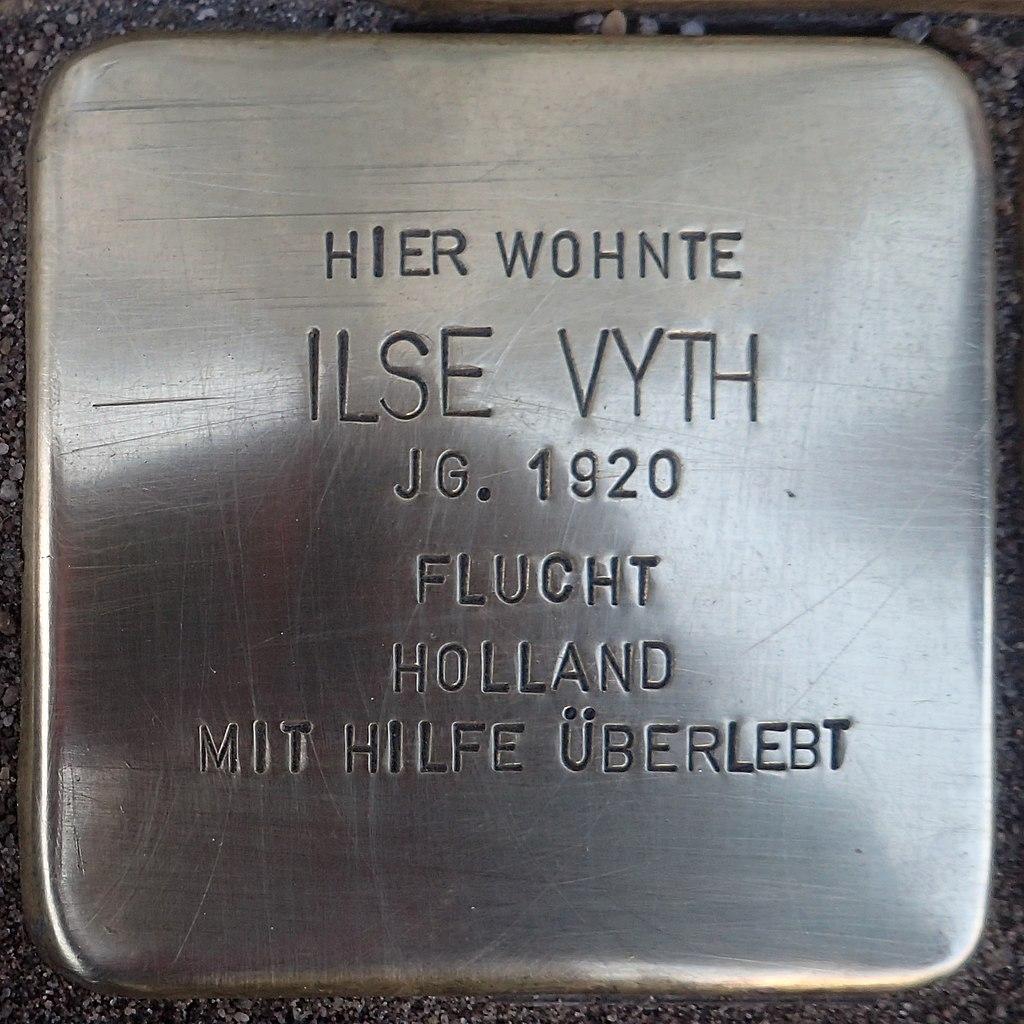 Stolperstein Kalkar Kesselstraße 19 Ilse Vyth