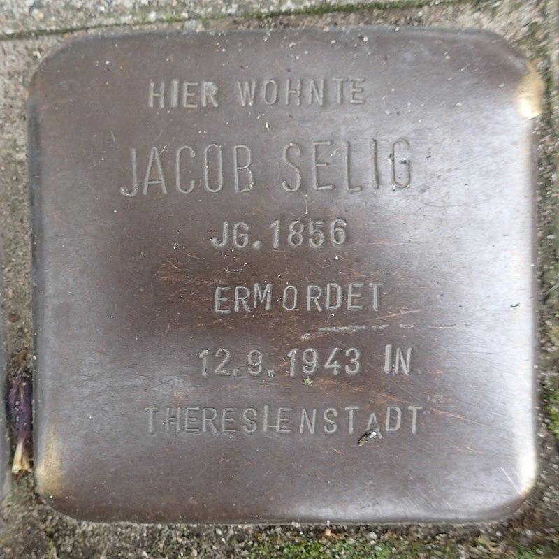 Stolperstein Prinzenstraße 16 Jacob Selig.jpg
