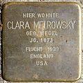 Stolpersteine Köln, Clara Meirowsky (Fürst-Pückler-Straße 42).jpg