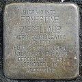 Stumbling stone for Ernestine Ziegellaub (Thieboldsgasse 102)