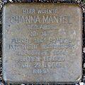 Stumbling block for Channa Mantel (Fleischmengergasse 26)