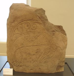 Pictish Beast - Image: Strathmartine castle stone