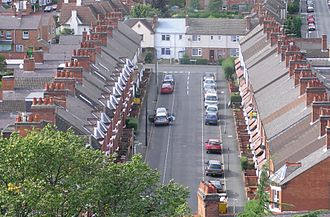 Social class in the United Kingdom - Terraced housing in Loughborough, built for the working classes.