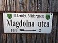 Street sign, Magdolna street, 2017 Máriaremete.jpg