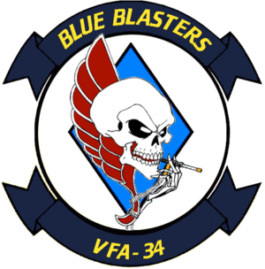 Carrier Air Wing Two - Image: Strike Fighter Squadron 34 (US Navy) insignia 1999