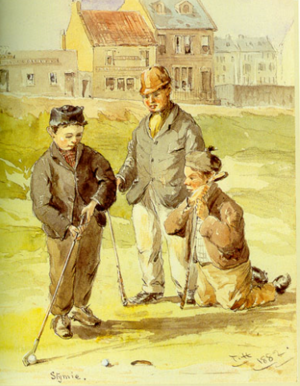Stymie - Stymie, an 1882 watercolor by Thomas Hodge. Note the ball blocking the hole.