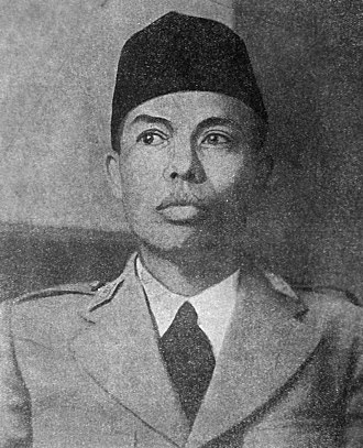 Indonesian National Armed Forces - General Sudirman, first commander of the Indonesian Armed Forces