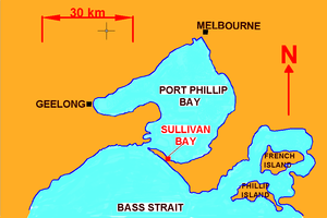 History of Victoria - Map of Sullivan Bay, Victoria
