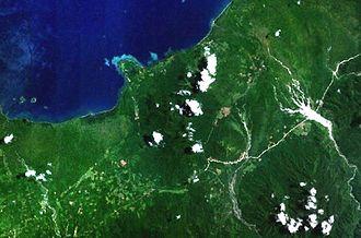 Sulu Range - Forested volcanoes of the Sulu Range, NASA Landsat image.
