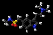 Sumatriptan-molekulo