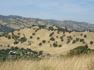 Vacaville, California - Vacaville Hills during summer