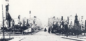1888 Sundsvall fire - Sundsvall following the 1888 fire.