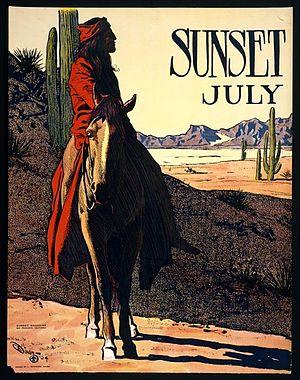 Sunset (magazine) - Sunset, July 1904, art by Maynard Dixon
