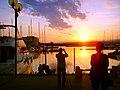 Sunset at Port Leucate, Aude.JPG