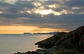 Sunset over the sea south of Solva - geograph.org.uk - 1524398.jpg