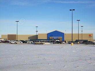 Walmart Canada - The Walmart store in Estevan, SK in January 2014