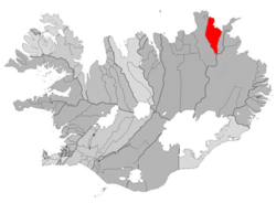 Location of the Municipality of Svalbarðshreppur