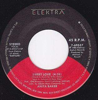 Sweet Love (Anita Baker song) single by Anita Baker
