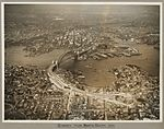 Sydney and Sydney Harbour Bridge taken from North Shore, 19 March 1932 (6174054684).jpg