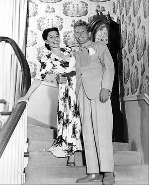 Sylvia Fine - Sylvia Fine with husband Danny Kaye, 1945.